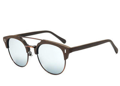 Classic Retro Wooden Designer Sunglasses for Women