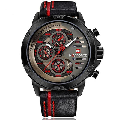 Luxury Dress, Business or Casual Multi-Function Leather Watches for Men