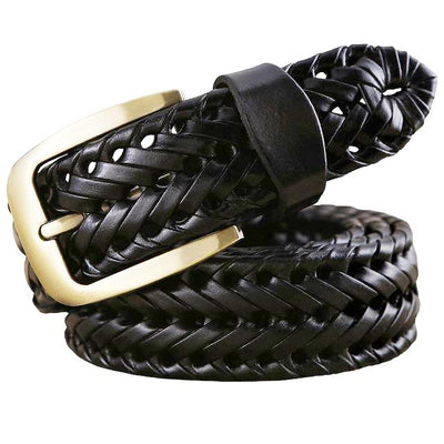 Men's Braided Fashion Leather Belts