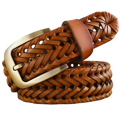 Braided Fashion Leather Belts For Men