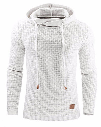 Men's Stylish Long Sleeve Woven Texture Hoodie
