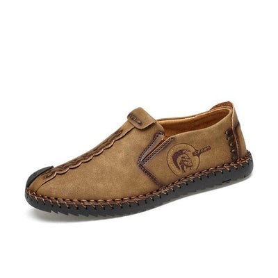 Casual Moccasin-Style Leather Slip-on or Lace-up Shoes for Men