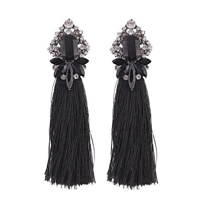 Women's Trendy Rhinestone Tassel Earrings