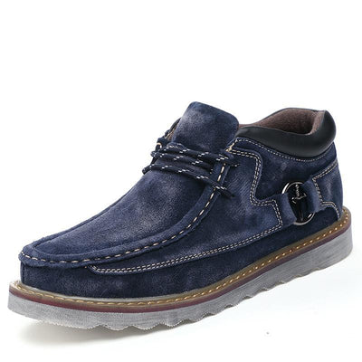 Genuine Leather Casual Shoes with Normal or Velvet Inner Lining
