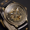 Antique Skeleton Automatic Mechanical Steampunk Watch For Men
