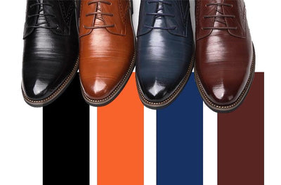 Oxford Business Shoes for Men - Genuine Leather