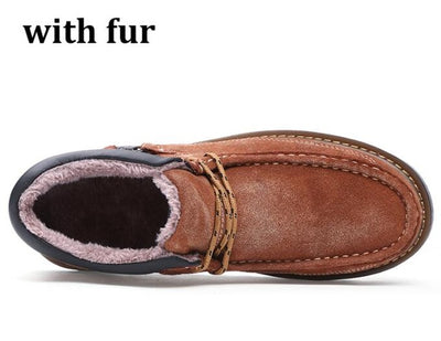 Genuine Leather Casual Shoes for Men