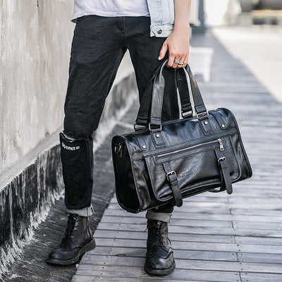 Large Capacity Polo Leather Travel Bag for Men