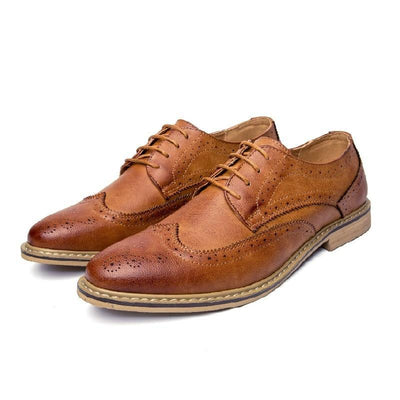Leather Brogue Casual and Dress Business Shoes for Men