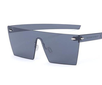 Rimless Flat Panel Sunglasses for Women