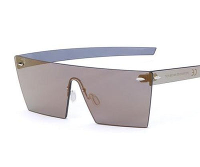 Unisex Flat-Panel Rimless Sunglasses