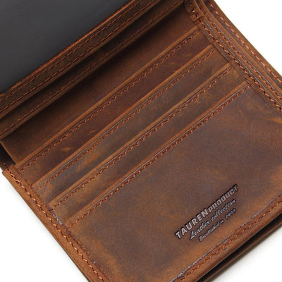 Men's Bifold Leather Wallet - Handmade