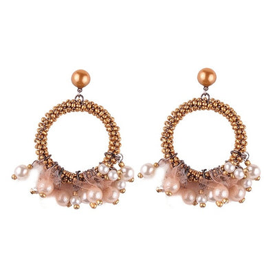 Women's Earrings - Simulated Pearl Tassels