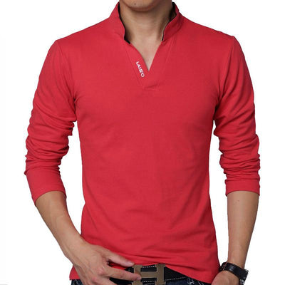 Casual Cotton Shirts for Men - Men's Long Sleeve T-Shirts