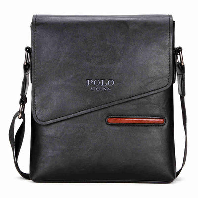 _POLO Leather Messenger Bag | Shoulder Cross-Over Bag for Men