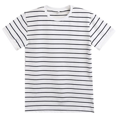 Men's Slim Fit Striped Cotton Short Sleeve Tees