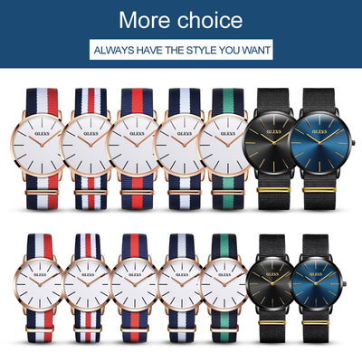 Casual Ultra-Thin Waterproof Dress Watches for Men