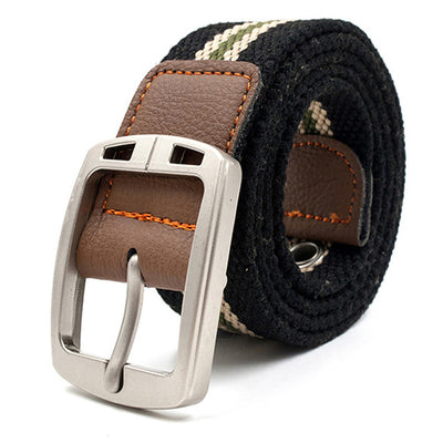 Casual Woven Canvas Fashion Belts For Men