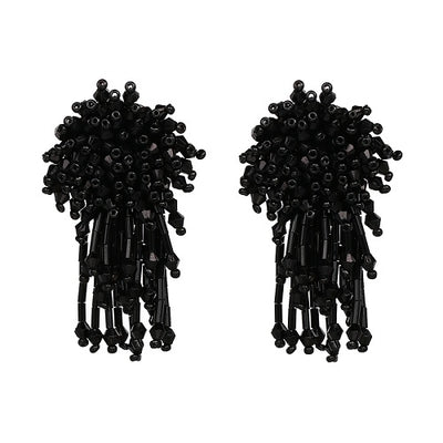 Women's Stud Earrings - Chrysanthemum Crystal Bead Drop Design