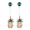 Women's Trendy Earrings - Pineapple Rhinestone Pendant