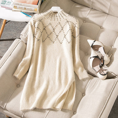 Above Knee, Mini - Elegant, Designer-Style Winter Fashion Dress For Women