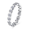 Women's Classic 925 Sterling Silver Crystal and Zircon Ring