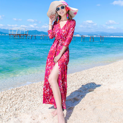 Women's Sexy Summer Dress - Long Colorful Cotton Fashion
