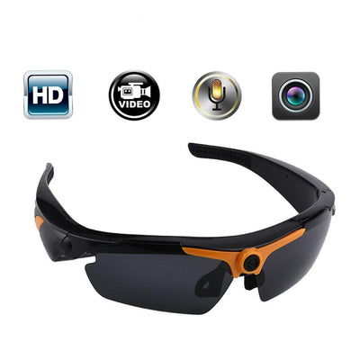 Video-Enabled Sports Sunglasses with Wide-Angle HD Digital Video Recorder
