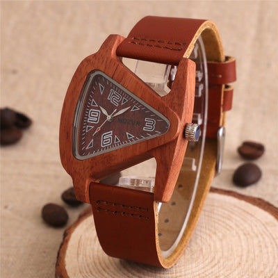 Luxury Fashion Crafted Sandalwood Analogue Watch for Men