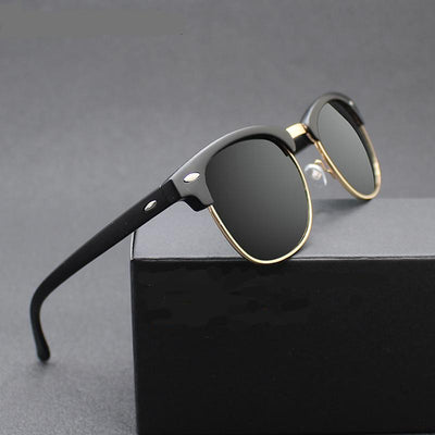 Anti-UV400 Vintage-Style Polarized Sunglasses for Men