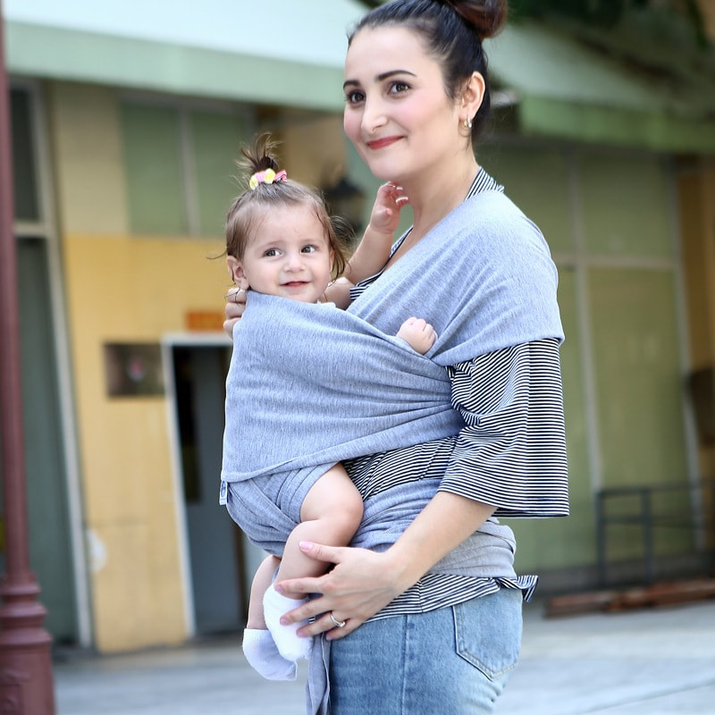 Newborn Baby Wrap Carrier For Nursing 100 Orangic Cotton Miutree