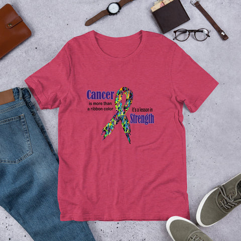 Cancer Is More Than A Ribbon Color Short-Sleeve Unisex T-Shirt