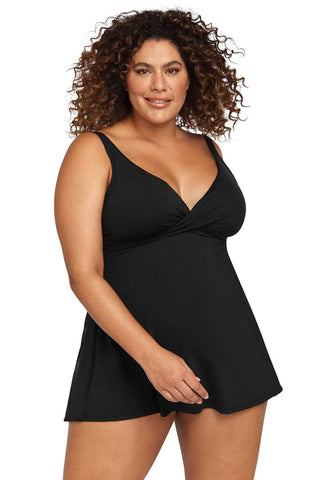Hues Black Delacroix Swimdress
