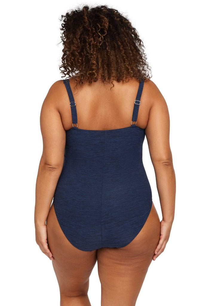 Artesands Plus Size Curvy Swimwear Mélange One Piece
