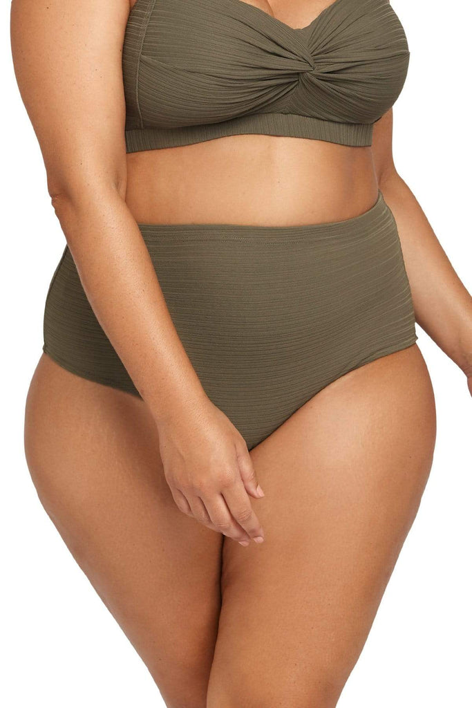 Aria Bikini Bottom Aria Olive High Waist Swim Pant Plus Size Curvy