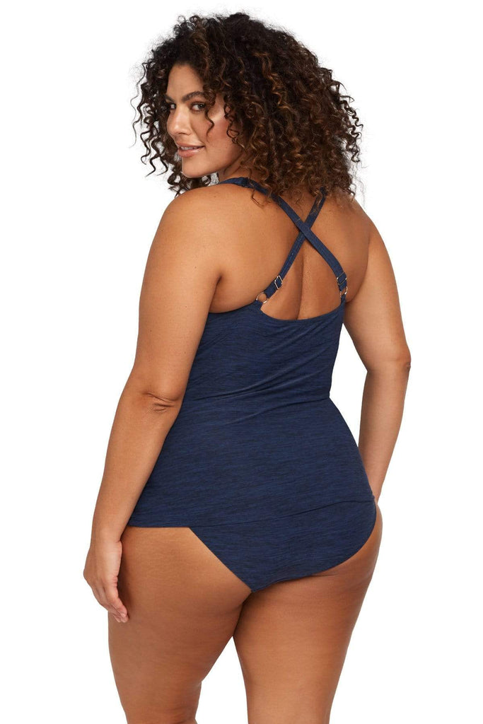 Artesands Plus Size Curvy Swimwear Mélange Tankini Top
