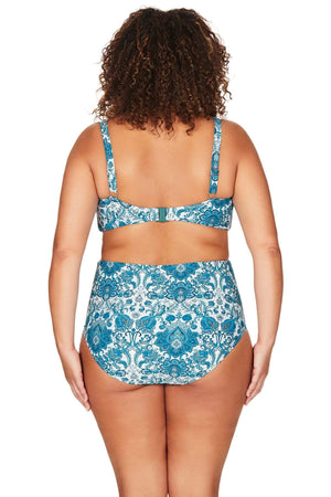 Artesands Seperates Bottom Arabesque Rouched Side High Waist Swim Pant Plus Size Curvy