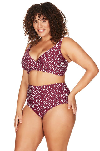 Artesands Seperates Bottom A'Pois Botticelli High Waist Swim Pant Plus Size Curvy
