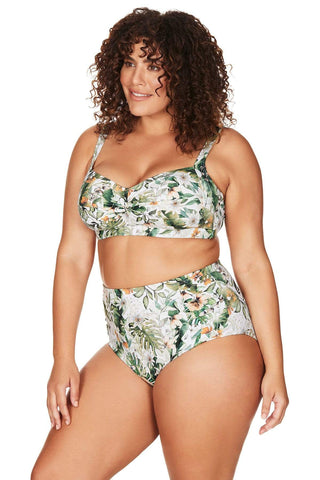 Viva La Eden Bikini Bottom Viva La Eden Botticelli High Waist Swim Pant Plus Size Curvy