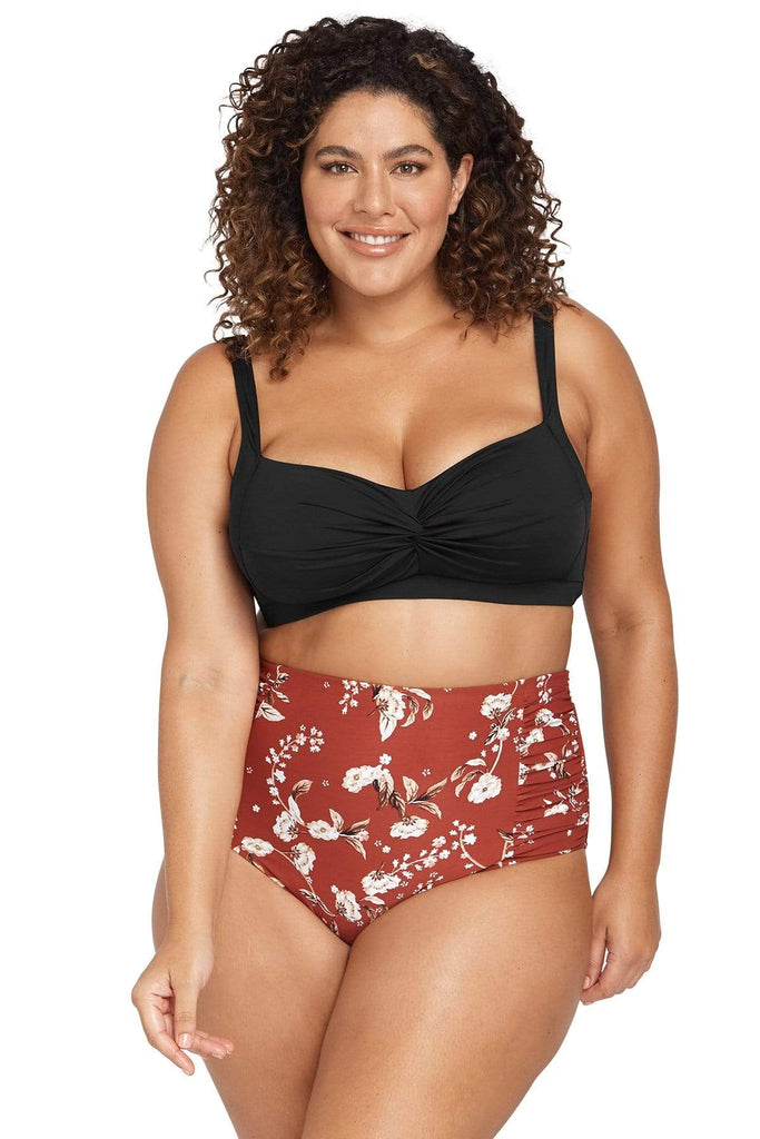 Red Vineyasa Botticelli High Waist Swim Pant