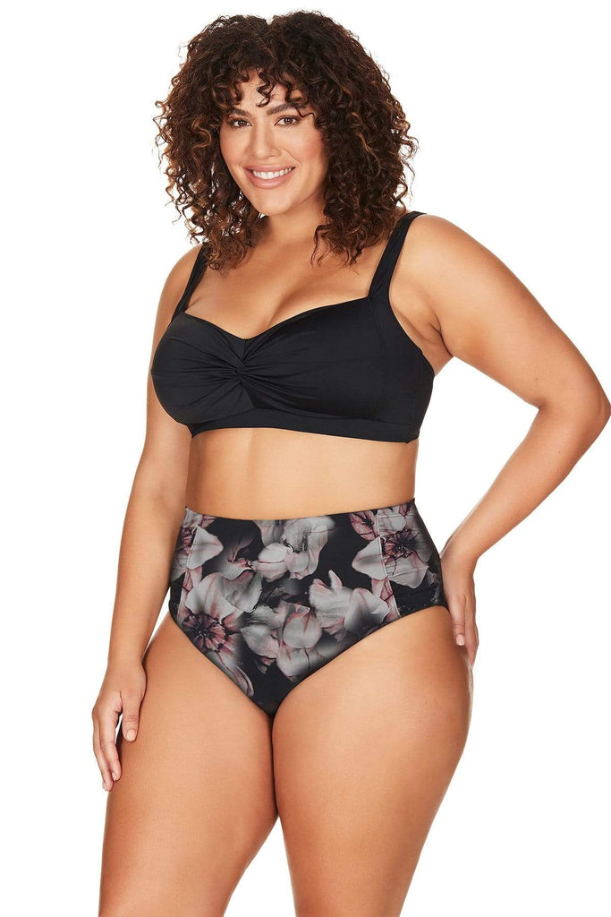 Artesands Plus Size Curvy Swimwear La Boheme High Waist Swim Pant