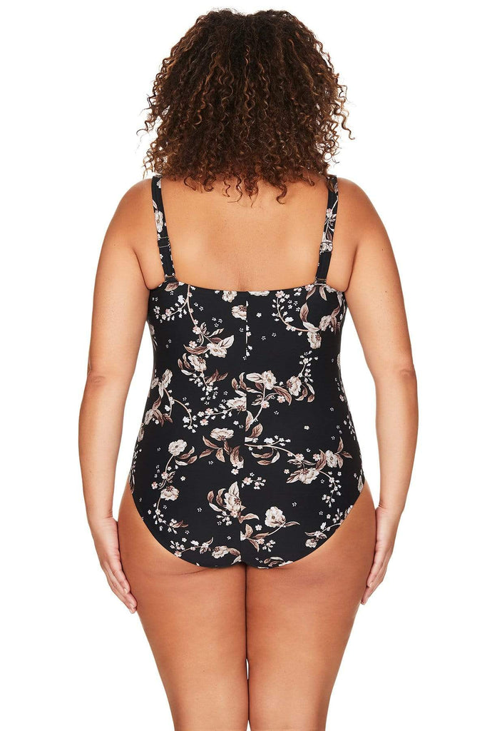 Artesands One Piece Black Vineyasa Botticelli One Piece Plus Size Curvy