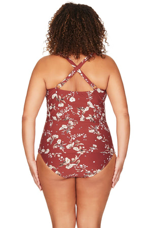 Artesands Seperates Tops Red Vineyasa Raphael Tankini Top Plus Size Curvy