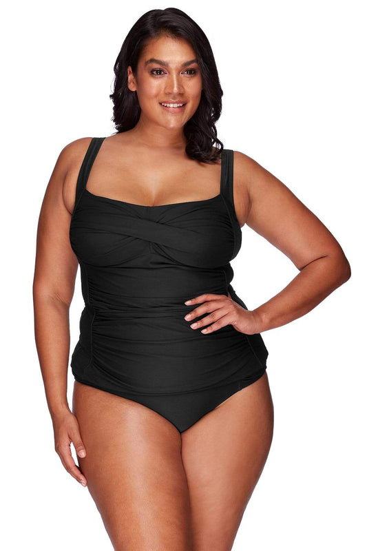 Black Botticelli Tankini Top