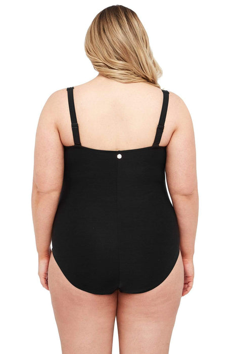 Black Botticelli Floating Underwire One Piece