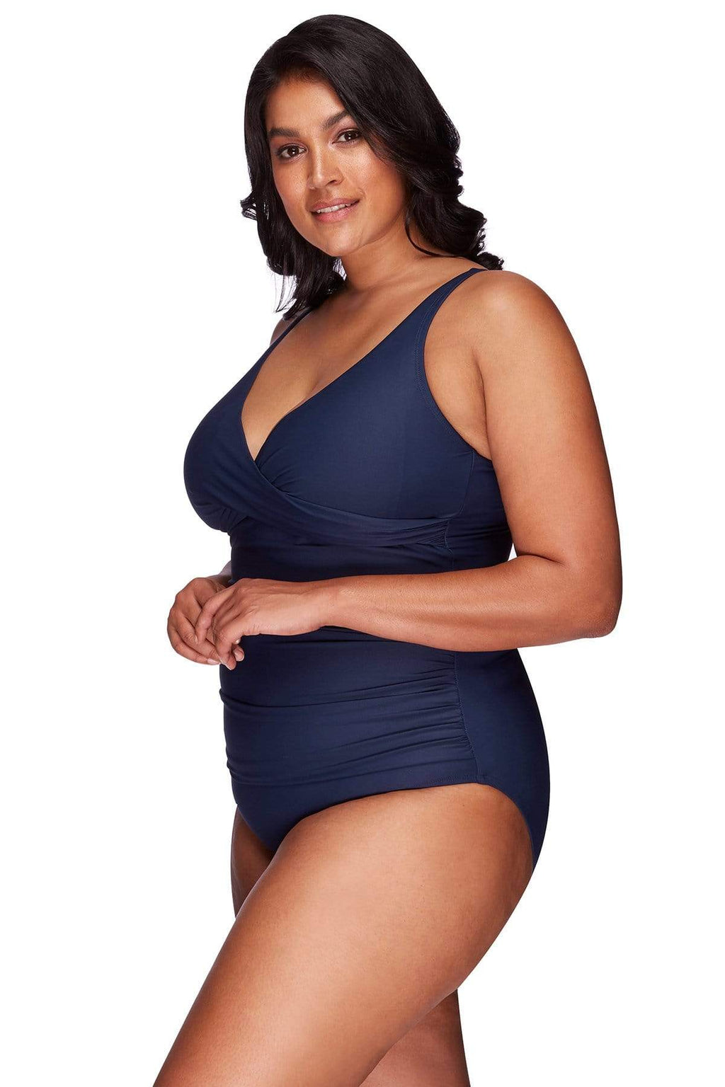 Artesands One Piece Navy Hues Delacroix One Piece Plus Size Curvy