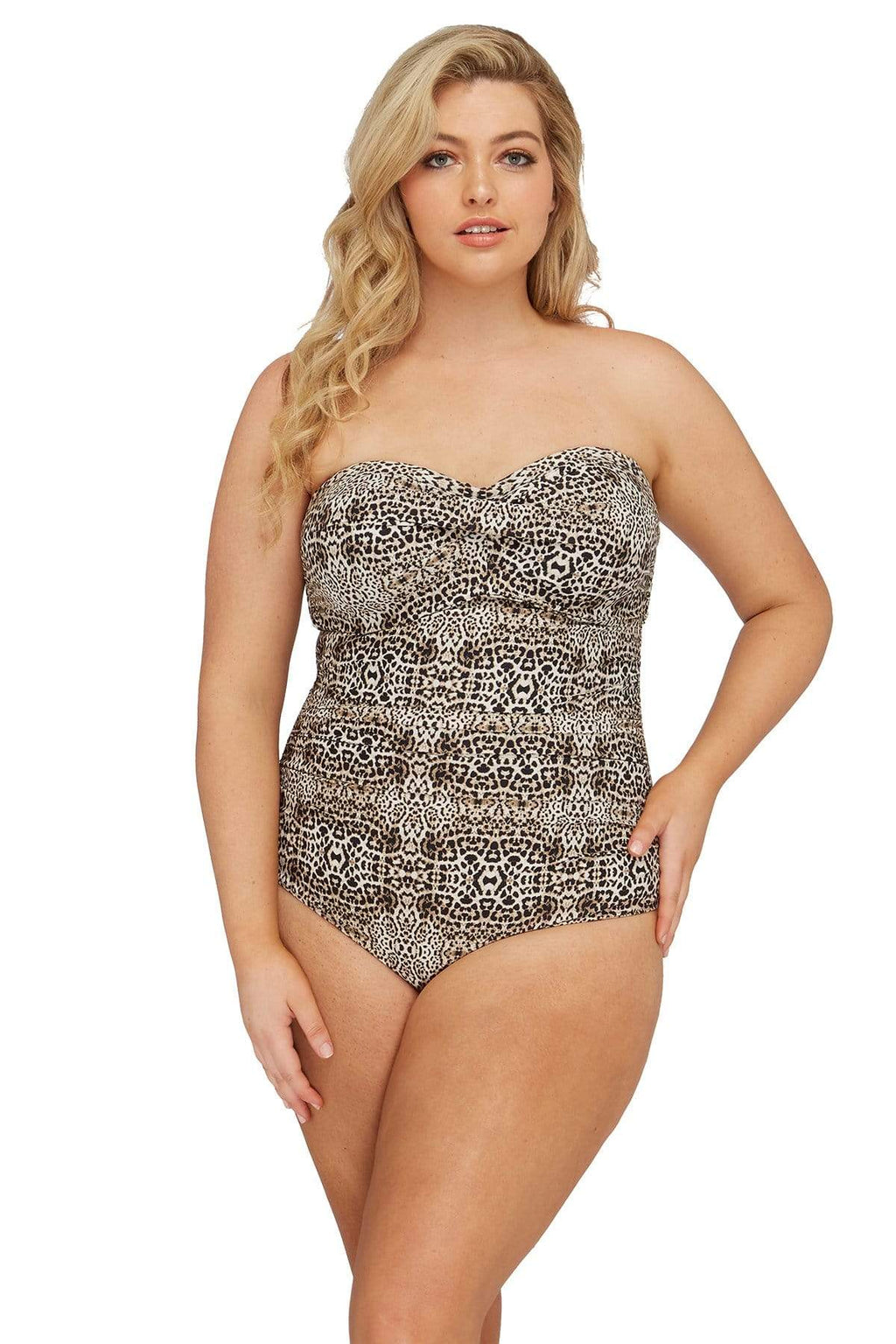 Leopard Botticelli Bandeau One Piece