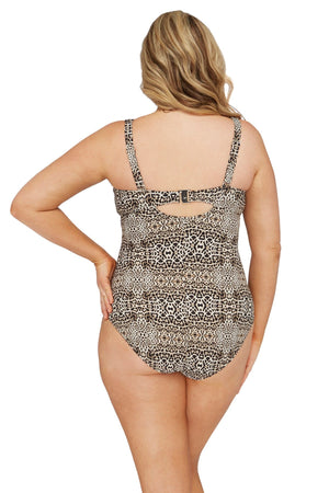 Artesands One Piece Leopard Cezanne One Piece Plus Size Curvy