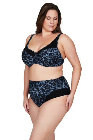 Artesands Bottom Le Blu Animale Giotto High Waist Pant Plus Size Curvy