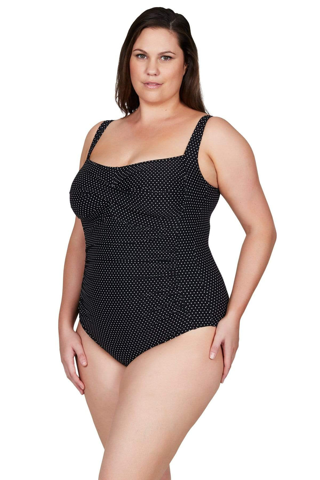Artesands One Piece Black Polka Rococo Botticelli One Piece Plus Size Curvy